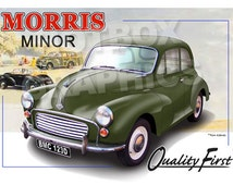 Personalised Illustration of Your Morris Minor Morris 1000