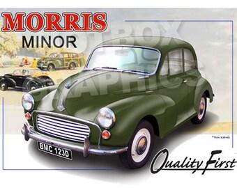 Personalised Illustration of Your Morris Minor Morris 1000