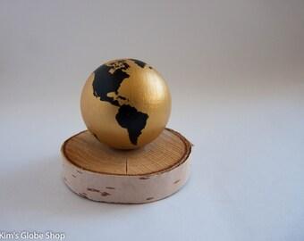 Hand painted World Globe