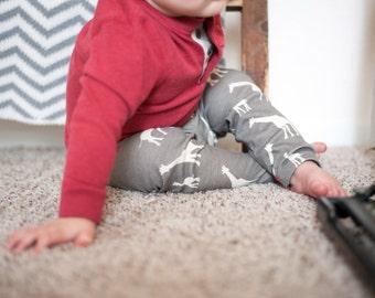 Giraffe Baby Leggings (100% Organic Cotton)