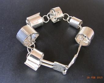 Sterling Silver, chunky chain link bracelet
