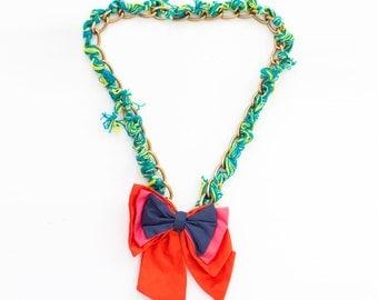 Statement Necklace - Ribbon Necklace - Bowtie Necklace - Multi-way Necklace - Bow Necklace