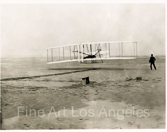 Photo of the Wright Brothers First Flight, Kitty Hawk, 1903