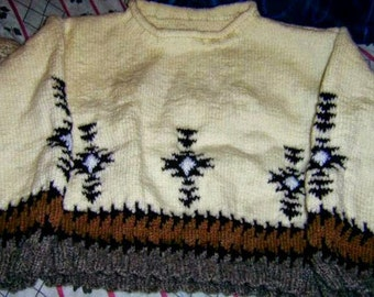 sweater Aztec maya cream to daughter 8 years