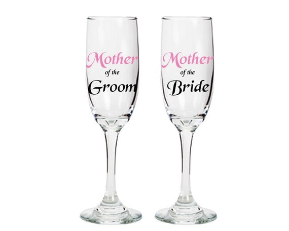 Mother Of The Groom Gift: Mother Of The Bride And Groom Champagne Glasses Mother Gifts