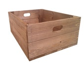Rustic Wooden Shallow Apple Crate Storage Box