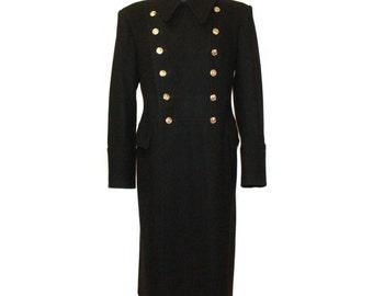 Soviet Fleet / Russian Naval winter warm Officer's overcoat, coat