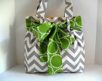 Canvas and fabric purse