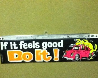 early 70's Bumper Sticker referencing  a dog,.... no a car,... no ...uh i got nothing