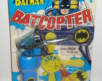 Vintage 1974 AHI Batcopter mint on card Batman, Old Store Stock