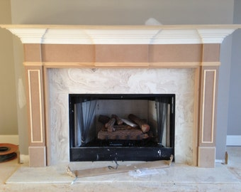 Fireplace Mantel. Unfinished