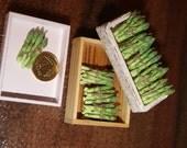 Dollhouse: Miniature food - vegetables - asparagus