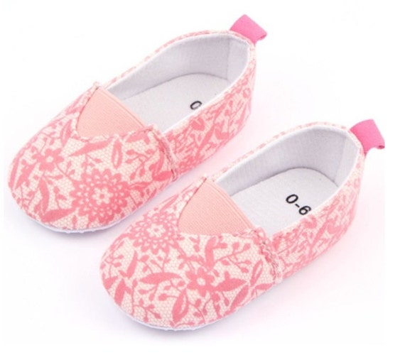 baby canvas shoes baby shoes pink baby by