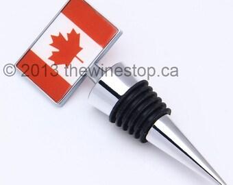 Canada Flag Wine Stopper - Premium