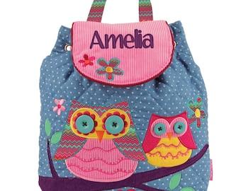 Personalised Nursery Backpack - Polka Dot Owl