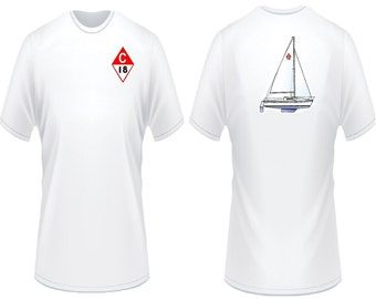 Catalina 18 Sailboat T-Shirt