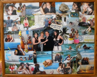 "3D Vacation Photo Collage (24""x30"" shown)"