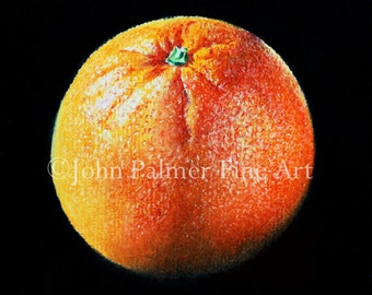 Orange -  Greeting card from my painting of an Orange