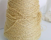 Gold Lurex Wool Blend Novelty Yarn Heavy Sport Weight by St John Knits NEW