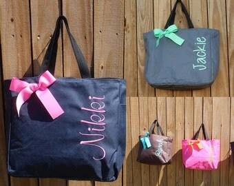 4 Personalized Bridesmaid Gift Tote Bag Personalized Tote, Bridesmaids Gift, Monogrammed Tote, Personalised Tote, Custom Bag