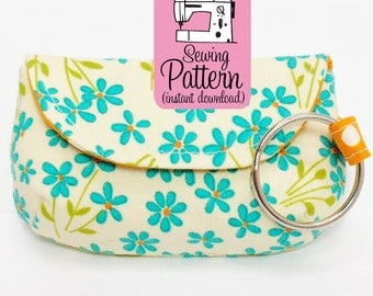 Keychain Clutch Sewing Pattern | Mini Pouch Pattern | Mini Clutch Pattern | Coin Purse Pattern | Pattern for Scraps