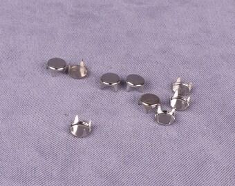 Silver Metal Round Studs - 6mm - 500 Pieces (MS6SR-500)