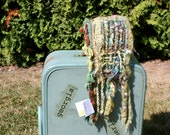 RESERVED Garden G05, an Everyday Scarf in green handwoven and felted by me