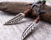 Soar || Bone Feathers | Swallows | Birds | Boho Hippy | Hypoallergenic | Nature | Earthy and Organic | Woodland Wedding | Earrings Under 25