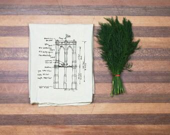 Brooklyn Bridge Tea Towel - Kitchen Towel - New York Hand Towel - Wedding Gift Housewarming Gift Dish Towel - Cotton Dish Cloth