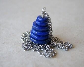 Lapis Cairn Necklace - Lapis Lazuli Necklace - Cairn Necklace - Cairn Jewelry - Zen - Gemstone Necklace - Stone Necklace - bohemian jewelry