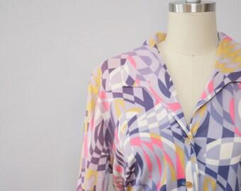 SALE psychedelic blocks vintage dress