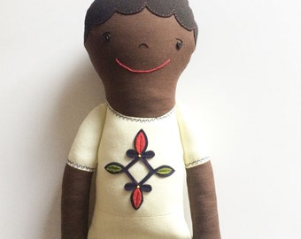 Ethiopian Boy Doll in Traditional Clothes