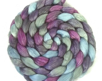 Handpainted Merino/Tencel Roving - 4 oz. EMILY - Spinning Fiber