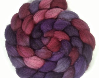 Handpainted Heathered BFL Roving - 4 oz. METEOR SHOWER - Spinning Fiber
