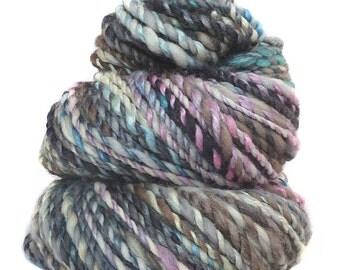 Handspun Yarn handdyed baby camel silk and Merino wool