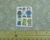 Dollhouse Miniature Raggedy Ann Paper Doll Sheet