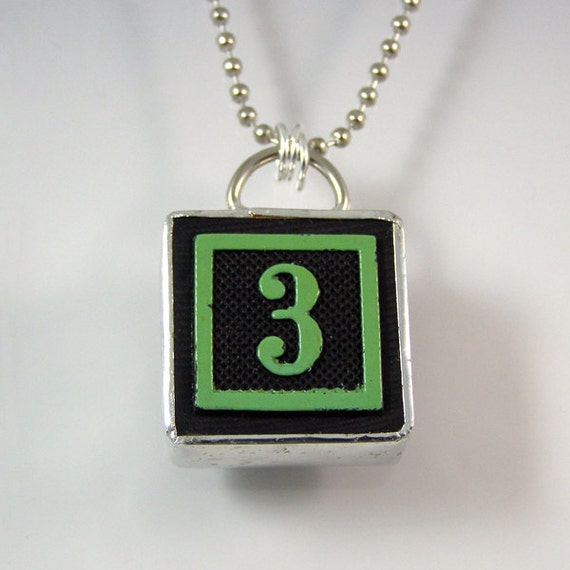 Number 3 Pendant Necklace