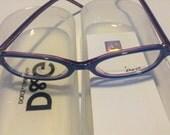 Dolce Gabbana Vintage Eyeglasses Blue Violet two tone NOS
