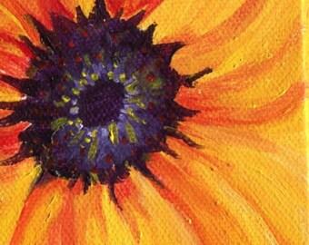 Original Sunflower Painting, Easel, Sunflower mini Canvas, acrylic painting, sunflower art, sunflower decor, Mini sunflower acrylic painting