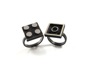 2×2 Interlocking Ring Set - Building Block Collection