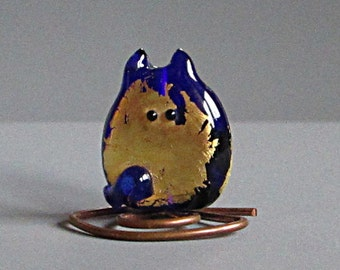 Kitten Bead Handmade Lampwork - Phillipe Itty Bitty FatCat