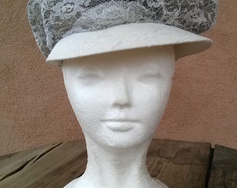 Vintage 1970s Hat Lace Newsboy Hip Hop Cap 201330