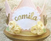 Shabby Chic Flower and Bird BIRTHDAY crown