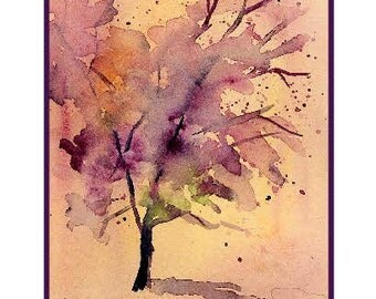 Watercolor Forsaken Tree Greeting Note Cards Notecards, Tree Stationery, Tree Print, Gift Box Set, Stocking Stuffers