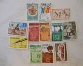 12 Vintage (1970s) Postage Stamps, Republic of Chad, Excellent Condition, Some Uncanceled