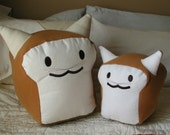 Lil White BreadCat Plush Collectible by BreadCat handcrafted in the USA