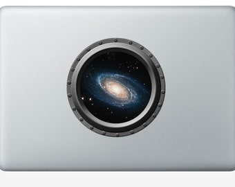Spiral Galaxy Mini Porthole - Laptop Decal