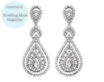Romantic Style Chandelier Clip-on Earrings, Savoy