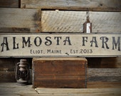 Custom Farm Sign, Wood Farm Sign, Family Farm Sign, Est Date Wall Decor Sign - Rustic Hand Made Vintage Personalized Wooden Signs ENS1000671
