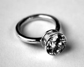 Simple Solitaire Ring with Big Sparkly Stone